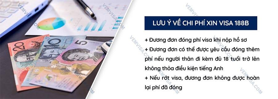 Chi phí xin visa đầu tư Úc 188B