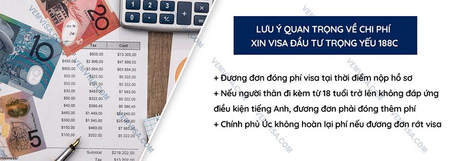 Chi phí xin visa đầu tư trọng yếu 188C