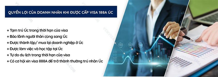 Quyền lợi của người sở hữu visa 188A Úc