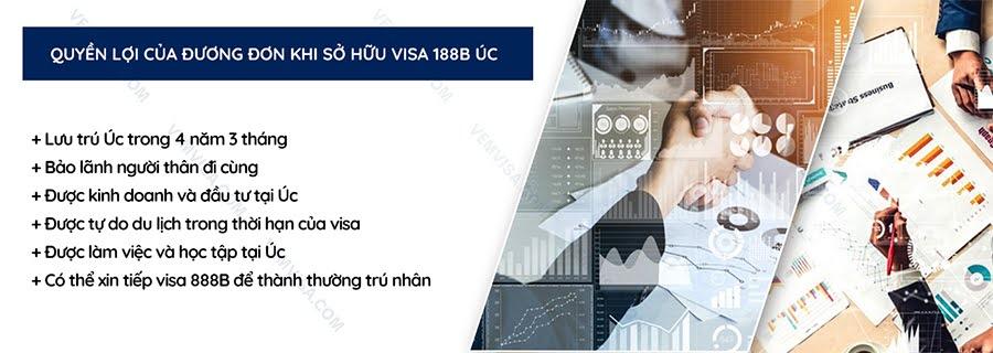 Quyền lợi của người giữ visa 188B Úc