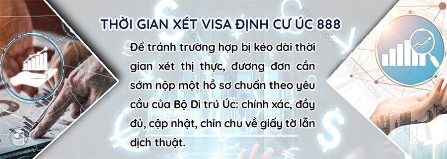 Thời gian xử lý hồ sơ xin visa định cư Úc 888
