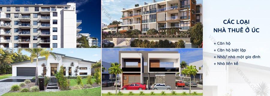 Các loại nhà thuê tại Úc