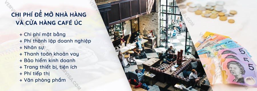 Chi phí mở nhà hàng, quán cafe tại Úc